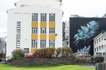 Street Art und Haus mit Warzen, Reykjavik
