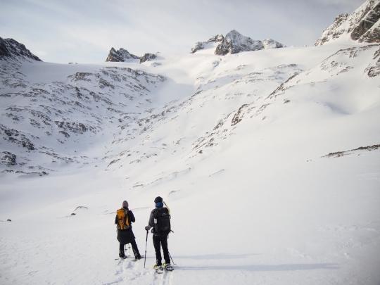 Mit Schneeschuhen auf dem Dachstein - krambeutelunterwegs im Winter 2017